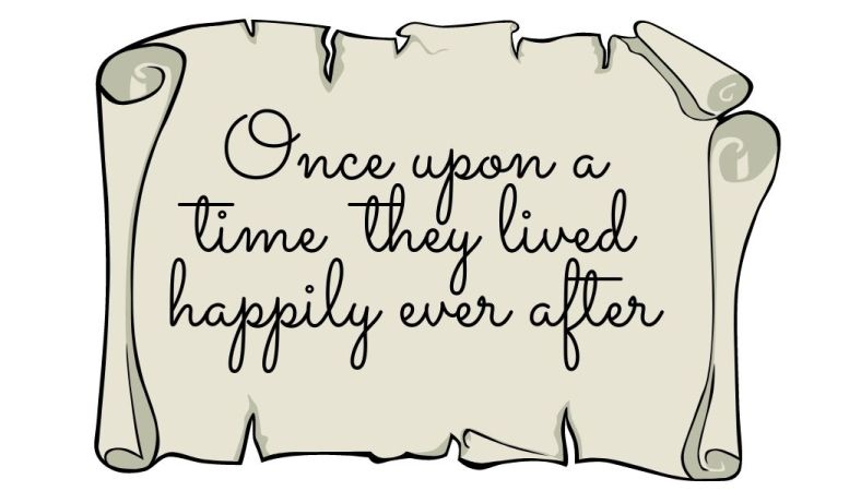 Once upon a time they lived happily ever after